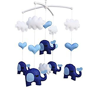 Infant Crib Musical Mobile, [Elephant] Boys/Girls Non-Woven Fabric Toys