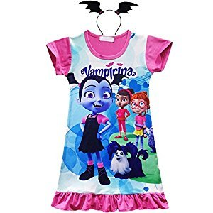 KUFV Vampirirna Girls T-Shirt Dress Children Cosplay Pleat Dress Clothes