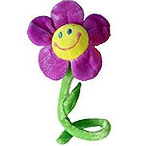 sea-junop Bendable Beautiful Sunflower Flower Plush Toy for Curtain Decor (Purple)
