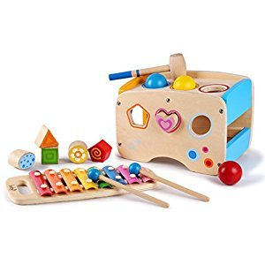 Pound A Ball Game with Slide Out Xylophone and Shape Sorter Blocks - by Kids Destiny