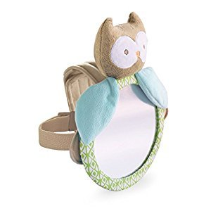 Carter's Rear Facing Mirror, Plush Animal  Owl, Tan