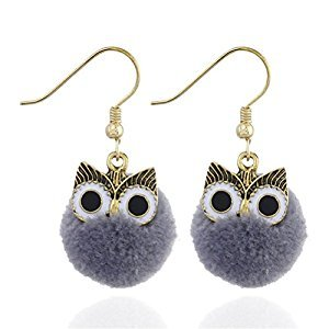 Cute Owl Earrings Ball Of Yarn Women Fashion Jewelry Perfect Gift For Party Statement Birthday Valentines