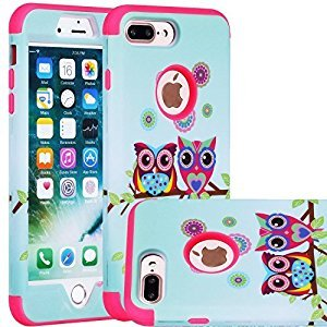 iPhone 7 Plus Cell Phone Case, SAVYOU iPhone 7 Plus 5.5inch Dual Layer Defender Shield Series Case Shock Drop Protection Armor Cover Sunshine/Pink