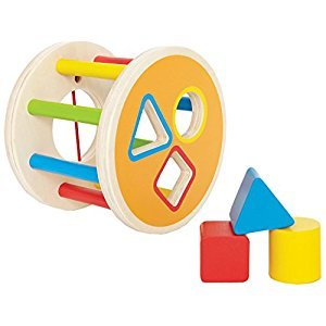 Hape 1-2-3 Kid's Wooden Shape Learning Sorter