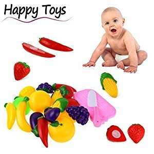 11PC Cutting Fruit Vegetable Pretend Play Children Kid Educational Toy by XILALU