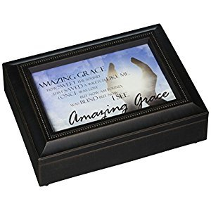 Carson Home Accents 17991 Amazing Grace Rectangle Music Box, 8-Inch by 6-Inch by 2-3/4-Inch