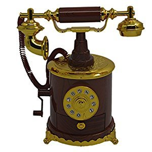 Elison-Telephone Hand Crank Antique Music Box Personalized Gifts Home Decoration Items