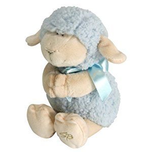 Stephan Baby Ultra Soft and Huggable Musical Praying Woolly Lamb, Blue