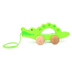Hape Crocodile Wooden Toddler Push and Pull Walking Toy