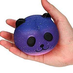 Oksale 10cm Galaxy Cute Panda Baby Cream Scented Squishy Stress Reliever Toy Slow Rising Squeeze Kids Toy (B)