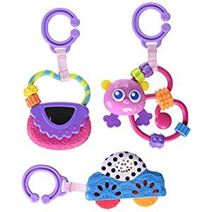 Playgro Babies Go with Me Rattle Pack for Girls Toy