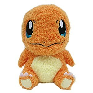 Sekiguchi Pokemon MokoMoko Charmander Fluffy 7-Inch Stuffed Plush