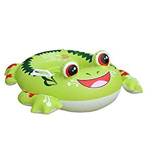 Inflatable Pool Float, Botitu Green Aerated Baby Swimming Float Seat with Frog Pattern Spring Float for Kids, Children, Toddlers and Infants, Suitable for 1-6 Years Old Baby Inflatable Pool Toys
