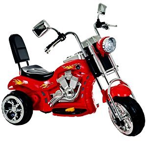 Lil' Rider 80-VC108 Lil Rider Red Rocking 3 Wheel Chopper Motorcycle, Red