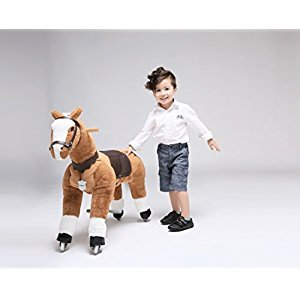 UFREE Horse Ride on Pony Toy, Moving Rocking Horse, Giddyup and Go Go Unique Horse Gift for Kids 3 to 9 Years Old ( White Mane and Tail) …