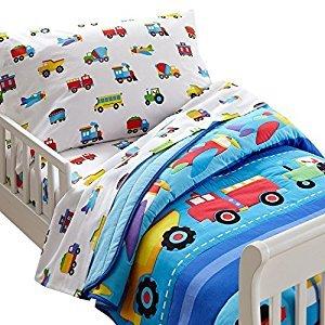 Wildkin Olive Kids Trains, Planes, Trucks Toddler Comforter