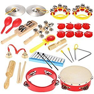 Andoer Percussion Set Kids Children Toddlers Musical Toys Instruments Band Rhythm Kit with Carrying Bag