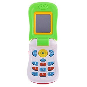 Jili Online Kids Flip Phone with Mirror Musicial Toys Role Play Toys for Baby Toddler Random Color