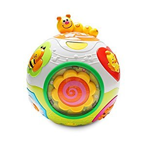 KONIG KIDS Move and Crawl Happy Learning Ball Educational Toy with Lights and Music for Baby 6 Months +