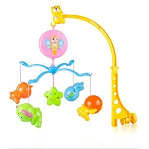 Reizbaby Baby Bedding Crib Hanging Bell Rotating Soft Colorful Plush Musical Mobile