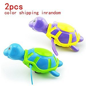 2 Pcs Rainbowkids Baby Bath Toys,Floating Wind-up Swimming Turtle Summer Toy For Kids Child Pool Bath Fun Time within 3months Or Older by rainbowkids