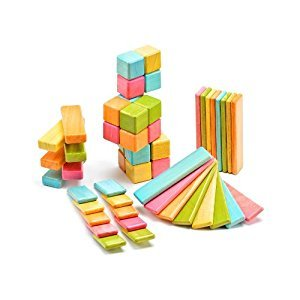52 Piece Tegu Original Magnetic Wooden Block Set, Tints