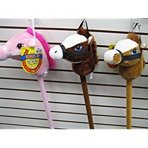 29 Stick Horse Giddy-up and Go Pony w/ Real Sound - Pink