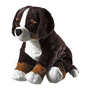 Ikea Hoppig Bernese Burmese Mountain Dog Puppy Stuffed Animal Childrens Soft Toy Play