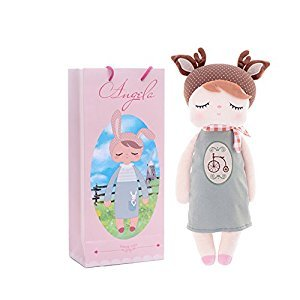 Me Too New Angela Sleeping Bunny Rabbit Girl Stuffed Plush Deer Bike Style for Kids Dolls Toys