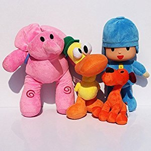 Pocoyo Loula Elly Pato Soft Plush Stuffed Animals Doll Kids Toys 4pcs/set