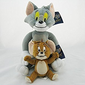 Tom and Jerry Soft Plush Stuffed Animals Doll Kids Toys 2pcs/set