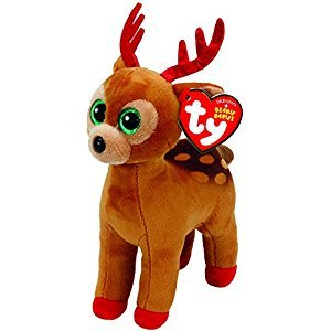 TY Beanie Boos TINSEL- Brown Reindeer Christmas Limited Ed. Regular 6