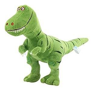 Zooawa Bed Time Stuffed Animal Toys, Cute Soft Plush T-Rex Tyrannosaurus Dinosaur Figure - Green