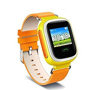 Children Kids Anti-Lost Smart Watch GPS Tracker For Android IOS Phone orange