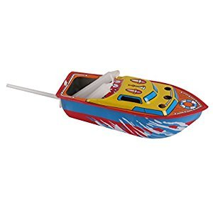 Colorful Pop Pop Boat Powered with Candle Retro Tin Toy Vintage Collectible