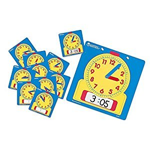 Learning Resources LER0575 Write On/Wipe Off Clocks Classroom Set
