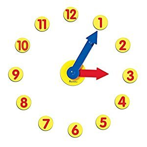 Learning Resources LER2984 Magnetic Time Activity Set