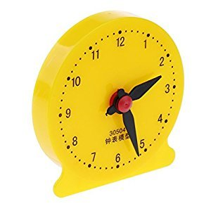 MagiDeal Baby Children Teaching Clock Learning To Tell Time Educational Toys Clock School Supplies