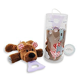 4 in 1 Pacifier holder, Pacifier case, Silicone teether, Visual stimulation, Bear