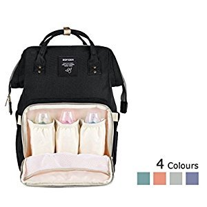 Lemonda Multi-Function Waterproof Diaper Bag Travel Backpack Nappy Bags for Baby Care, Large Capacity, Stylish and Durable (Black)