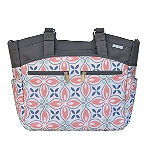 JJ Cole Camber Diaper Bag, Coral Rose