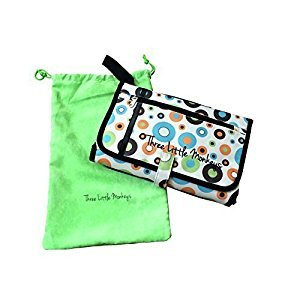 Ultralight Diaper Bag with Detachable Waterproof Changing Pad By Three Little Monkeys - Perfect for Travel Includes Protective Soft Cloth Bag