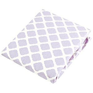 Kushies Baby Changing Pad Cover, Lilac Lattice