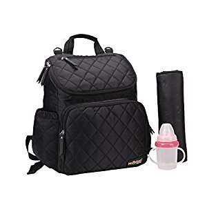 AMYAMY Baby Diaper Bag Travel Backpack Handbag Large Capacity Fit Stroller,(Black-CA)