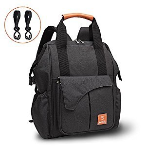 Diaper Bag Backpack, Multi-Function Nappy Bags Made of Waterproof and Dirt-resistant Oxford Clothes with Stroller Strap for Baby Care,Large Capacity, Lightweight, Durable and Stylish(Black)