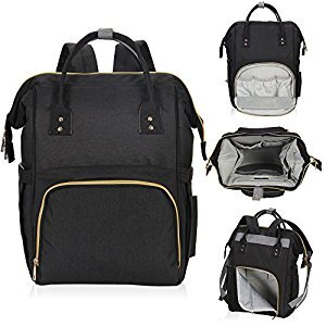 Hynes Eagle Water Resistant Diaper Backpack for Dad Mom Multifunctional Baby Nappy Bag