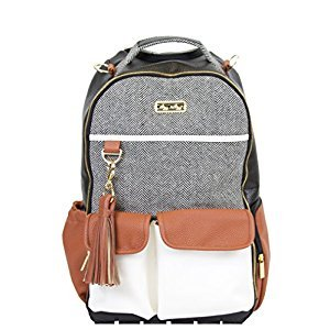 Itzy Ritzy Boss Diaper Bag Backpack in Coffee and Cream