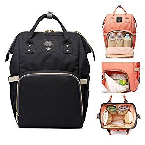 Pawaca Diaper Bag Backpack Pawaca Multi-Function Baby Nappy Tote Bags Travel Backpack for Baby Care, Large Capacity Waterproof Stylish Nappy Changing Bags Canvas Mummy Handbag