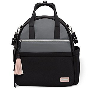 Skip Hop Nolita Neoprene Diaper Backpack - Black/Grey