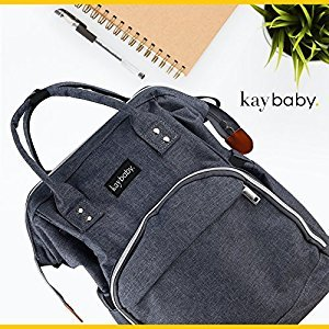 Diaper Bag Nappy Backpack | Multi-Function Waterproof Lightweight Travel Backpack for Baby Care with Insulated Pockets, Large Capacity, Durable, Stain Proof (Grey)